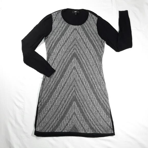 Mossimo Supply Co. Dresses & Skirts - Long Sleeve Chevron Sweater Dress